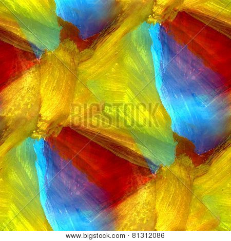 mosaic blue green red yellow abstract background seamless gouach