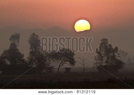 sunrise at Bardia National Park, Nepal