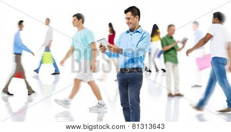 Community Diversity People Shopping Online Technology Concept