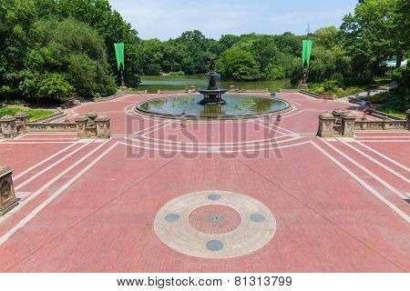 Central Park Angel of the Waters fountain in Bethesda Terrace New York US