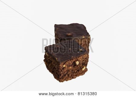 Brownie Isolated On White Background