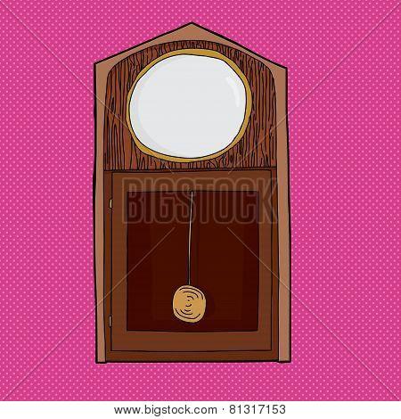 Blank Face Grandfather Clock