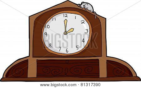 Mouse On Mantle Clock