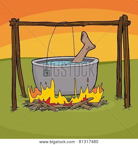 Boiling A Foot For Dinner
