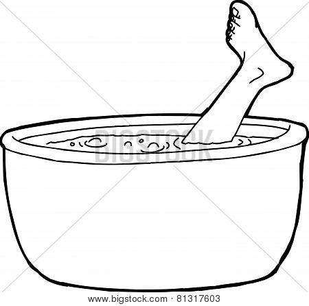 Outline Of Human Foot Stew