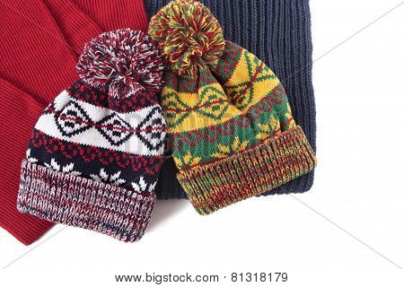 Bobble Hats And Scarves