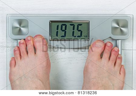 Checking Body Weight On Scale