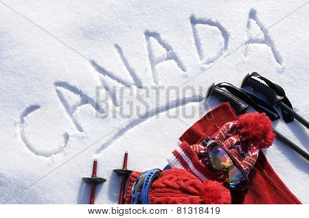 Canada Ski Background