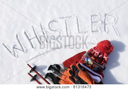 Whistler Ski Background