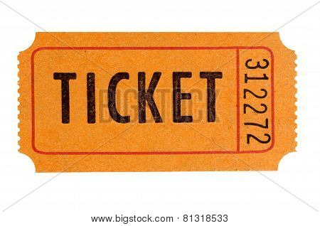 Orange Admission Ticket