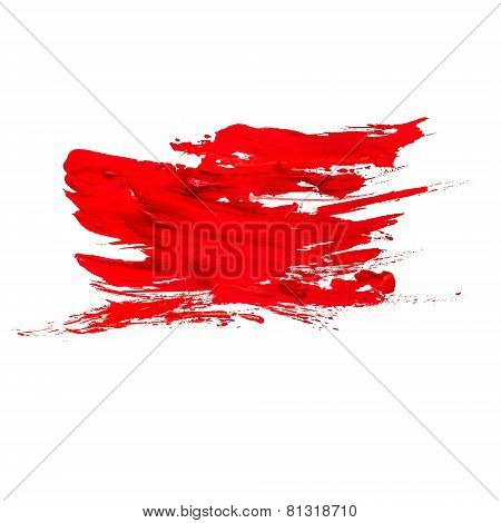 red watercolors spot blotch isolated