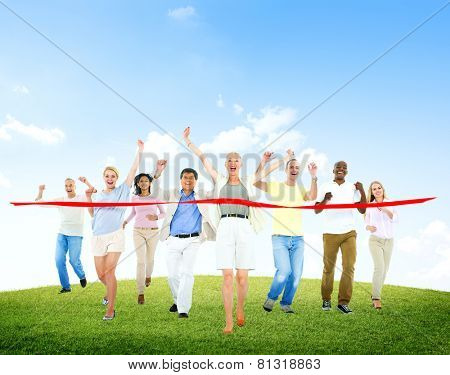 Competition Diverse Diversity Ethnic Ethnicity Unity Togetherness Concept