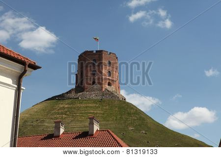 Gediminas Tower in Vilnius, Lithuania.