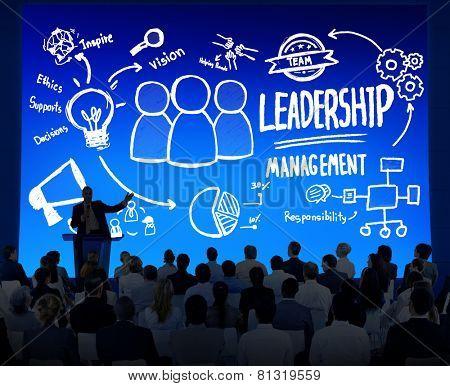 Diversity Business People Leadership Management Seminar Leadership Concept