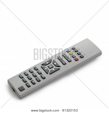 remote control tv access monitoring support isolated on white ba