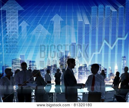 Stock Exchange Business People Conference Meeting Seminar Concept