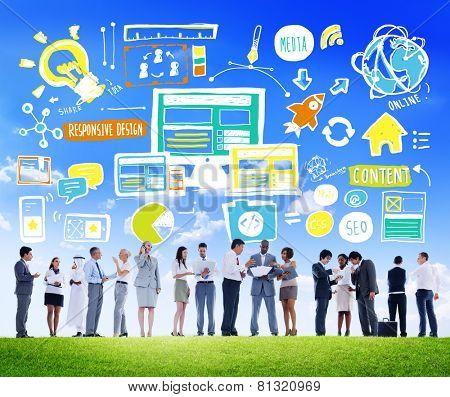 Diversity Business People Responsive Design Idea Discussion Concept