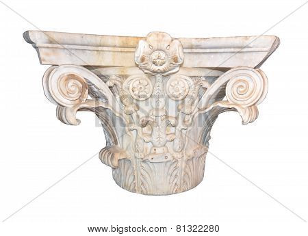 Marble Corinthian capital from ancient Rome