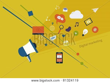 Digital marketing set