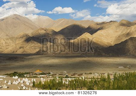 scenic viewpoint on the top of Shey Palace Ladakh ,India