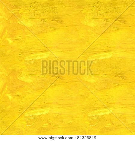 seamless texture of yellow abstract gouache