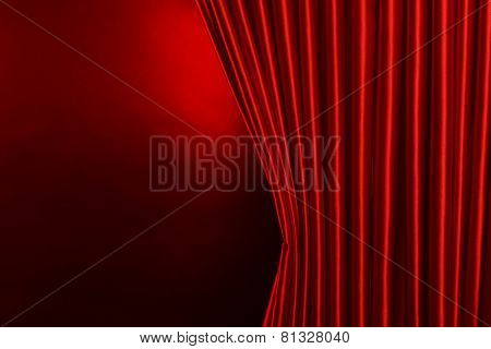 Red Curtain on red background