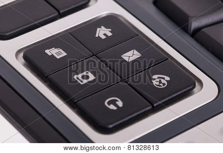Buttons On A Keyboard - E-mail