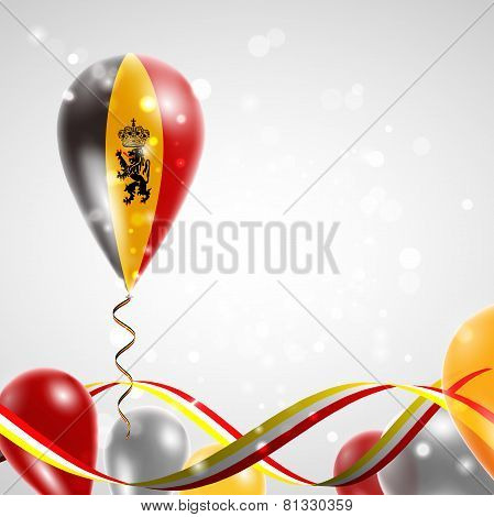 Flag of Belgium on balloon