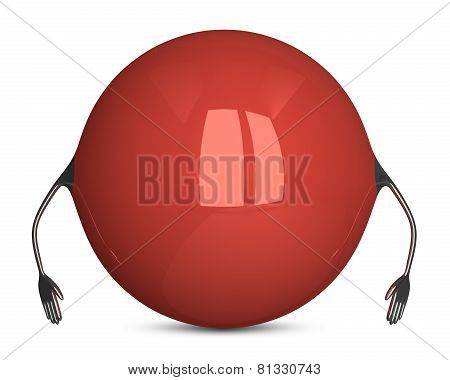 Red Sphere Character