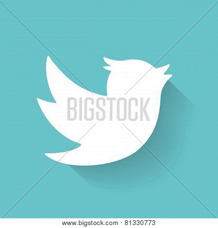 Set of social media icons. Bird