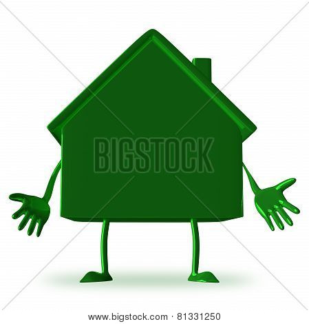 Discouraged Green Cottage Character