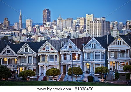 Famous Painted Ladies Of San Francisco