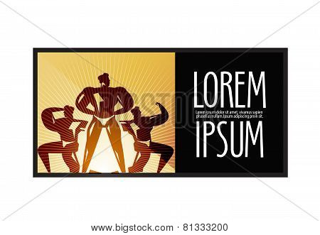 sports logo design template. fitness or  Bodybuilding icon.