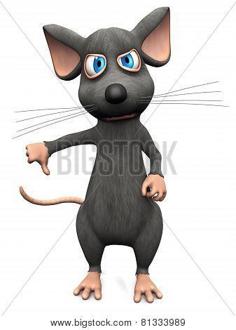 Cartoon Mouse Doing A Thumbs Down.