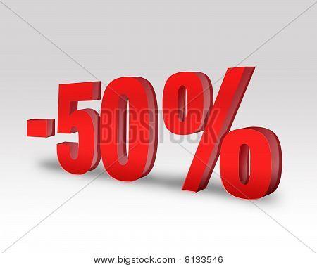 -50% Sale Discount