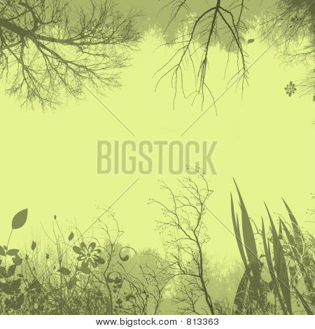 Flora background - yellow