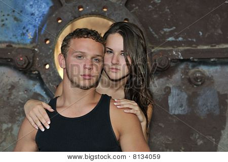 Teen couple.