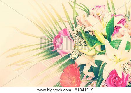 Big Bunch Of Beautiful Pastel Flowers