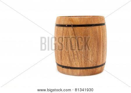 wooden keg