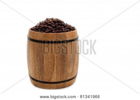 full keg of black coffee