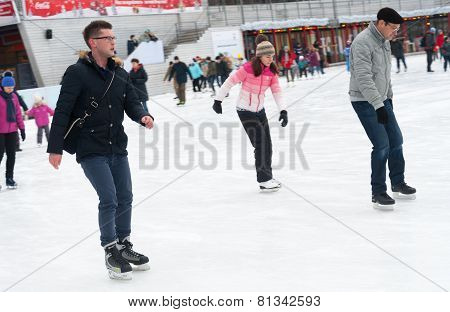 People Skating In Park