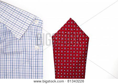 Tie And Shirt On A White Background