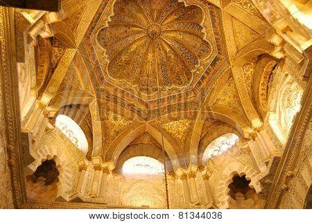 Mezquita ceiling, Cordoba.
