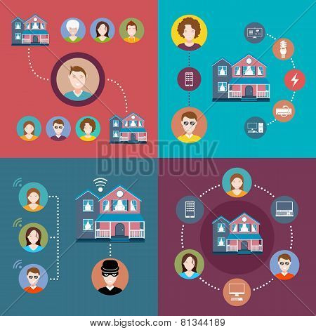 Set Elements Of Infographics Smart Home