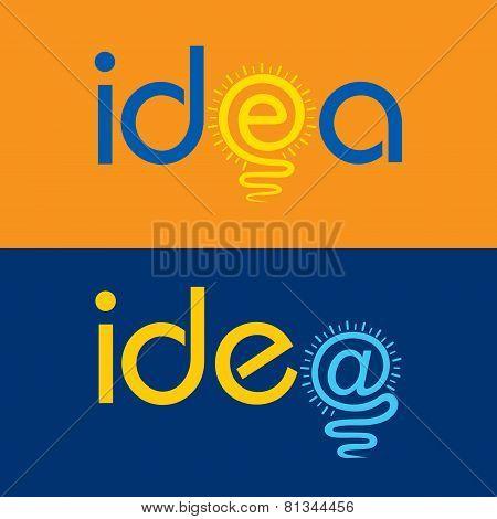 light bulb make idea text concept stock vector