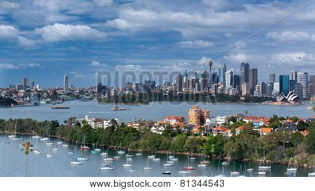 Panorama over Sydney Harbour