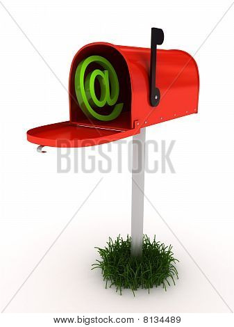 Mailbox Over White Background
