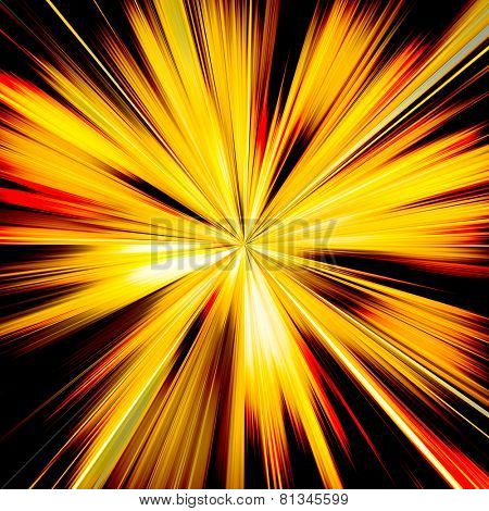 Orange and yellow sunburst beams illustration