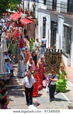 Street procession, Marbella.