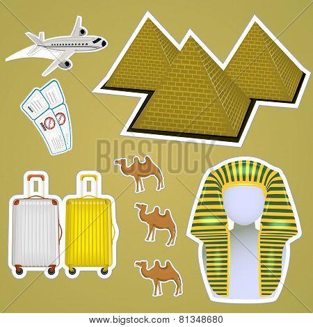 Sticker Egyptian Pyramids